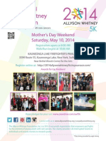 2014 Allyson Whitney 5k Flyer