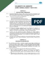 Reglamento de Admision GENERAL MARZO MAYO