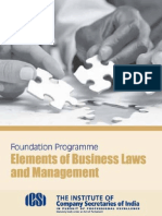 Elements of Business Laws and Management