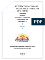 Affect of acid and alkaline on tensile stength of fibers.