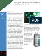 HPLC-UV-杂质分析-Impurity Profiling of Carbamazepine by HPLC UV