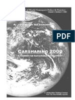 CARSHARING 2000 – A HAMMER FOR SUSTAINABLE DEVELOPMENT