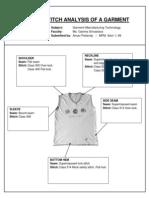 Seam and Stitch Analysis of a Garment