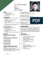CV of James Fermanejo