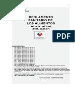 Reglamento sanitario de los alimentos dto. n° 977-96 2006.doc