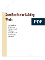 Specification for Building Works