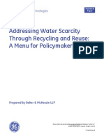 Addressing Water Scarcity Through Recycling and Reuse