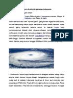 Siklon Tropis Dan Indonesia