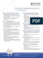 Ccsa r75 Objectives