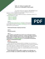 LEGE Nr 544 -2001 Privind Liberul Acces La Informatii de Indteres Public