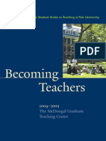 Becoming Teachers
