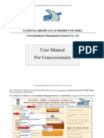User Manual - Concessionaire v 0.2