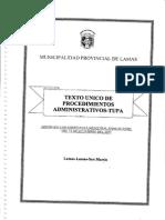 Texto Unico de Procedimientos Administrativos - TUPA