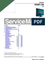 9619 Philips 32PFL3605 42PFL3605 Chassis RAM1.0A-LA Televisor LCD Manual de Servicio