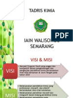 VISI MISI Dan Beberapa Data PRODI KIMIA Unt Mahasiswa Buat Persiapan Akreditasi 2013