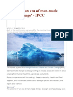 'We Live in an Era of Man-made Climate Change' - IPCC