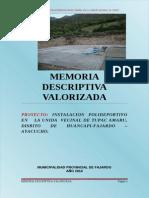 Memoria Descriptiva Valorizada