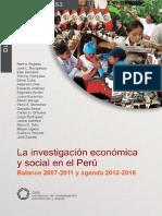 Balance de la investigación 2007-2011 y agenda 2012-2016