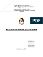 Programacion Modular y Estructurada