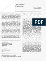 Determinants of scientific productivity in firms