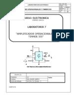 Informe de Elctronica Timmer 555