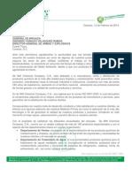Carta Presentación Corporativa DE WITT