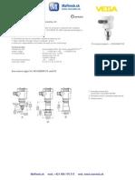 VEGABAR 83 Prevodník tlaku s kovovou membránou