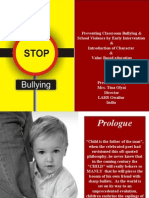 Preventing Classroom Bullying & School Violence by Early Intervention
