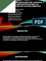 CONDICIONES DE UBICACIÓN DEL ARCHIVO PREVENTIVAS PARA LA