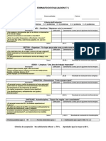 5 s - Formato Evaluacion
