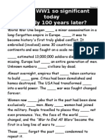 The significance of WWI