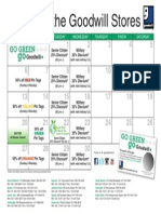 Goodwill's April 2014 Retail Calendar