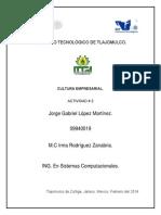 Actividad II Cultura Empresarial - Jorge Gabriel Lopez Martinez
