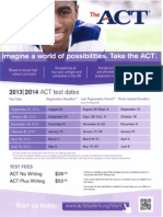act test schedule standard 5 3