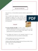 TIPS Para Escribir Bien