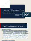 autism resource guide presentation