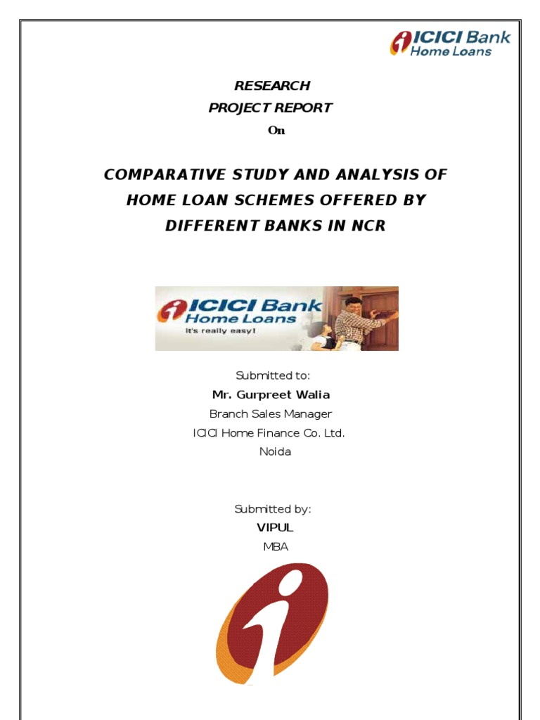 Mba project report home loans hdfc