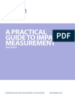 A Practical Guide to Impact Measurement (EVPA)