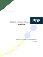 INEVAL - Cédula de referencia de las Pruebas SER Bachiller.pdf
