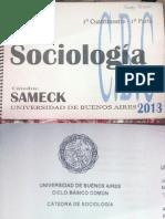 Sociologia - Catedra Sameck CBC 2013 Hasta Pag 90