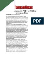 29-03-2014 Hoy Tamaulipas - Los políticos del PRI y el PAN ya creen en Dios.