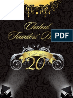 Chabad of Dayton Celebration 20 Journal