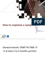 How to Organise a Symposium