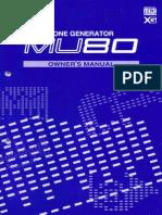 Yamaha MU80E Owners Manual