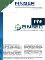 Reporte Financiero Semanal al 31 de MARZO