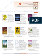 LibraryReads April 2014 Top Ten List