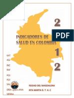 Indicadores de La Situacion de Salud Colombia 2012