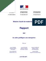 Rapport Aides Publiques 2007