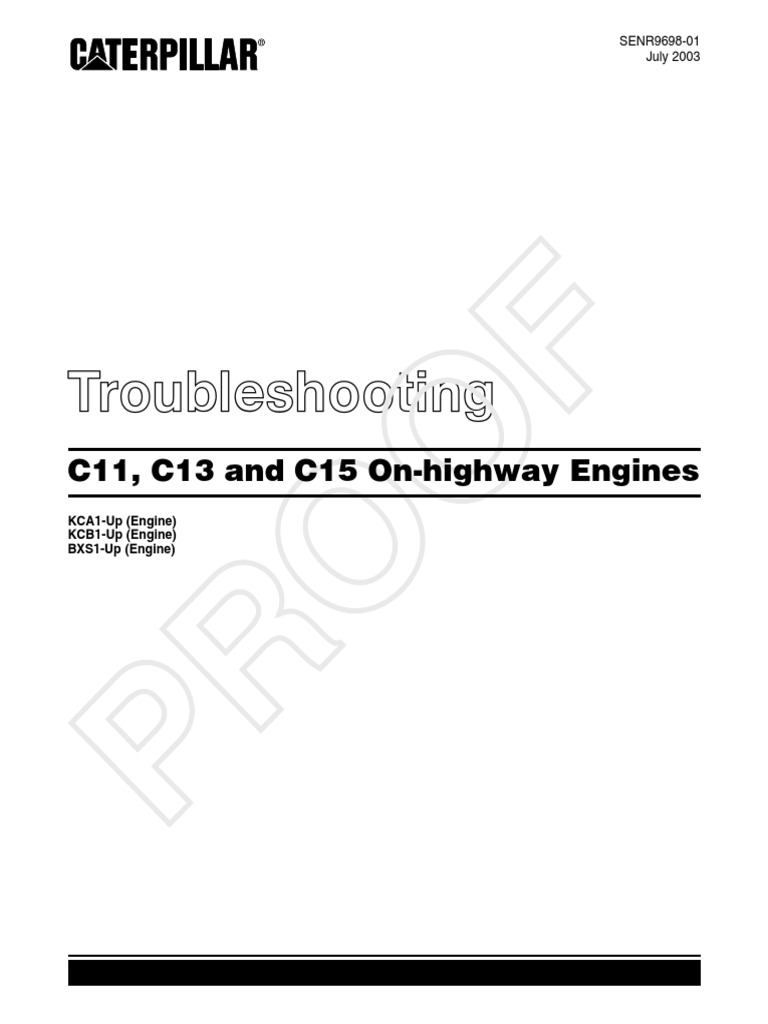 C15 Troubleshooting | Fuel Injection | Throttle