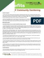 Multiple Benefits of School Gardening